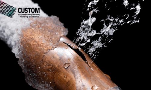 pipe burst, plumbers, tulsa, custom, frozen pipes